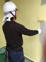 外壁フッ素中塗り