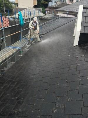 横須賀市池田町H様 屋根高圧洗浄